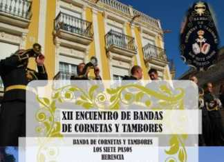 Cartel XII Certamen de bandas de cornetas y tambores de herencia