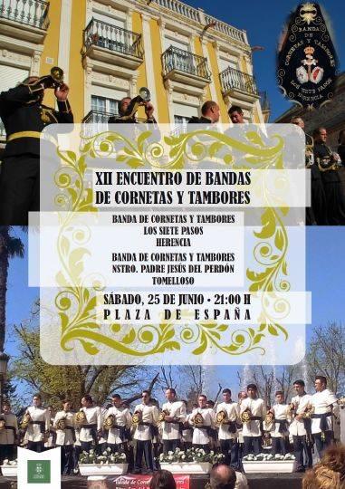 Cartel XII Certamen de bandas de cornetas y tambores de herencia - XII Encuentro de bandas de Cornetas y Tambores