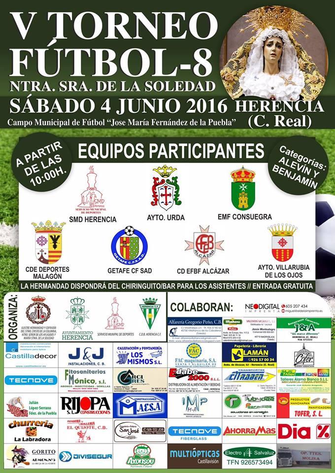 "V torneo de futbol 8 virgen de la soledad - V Torneo de fútbol 8 ""Virgen de la Soledad"""