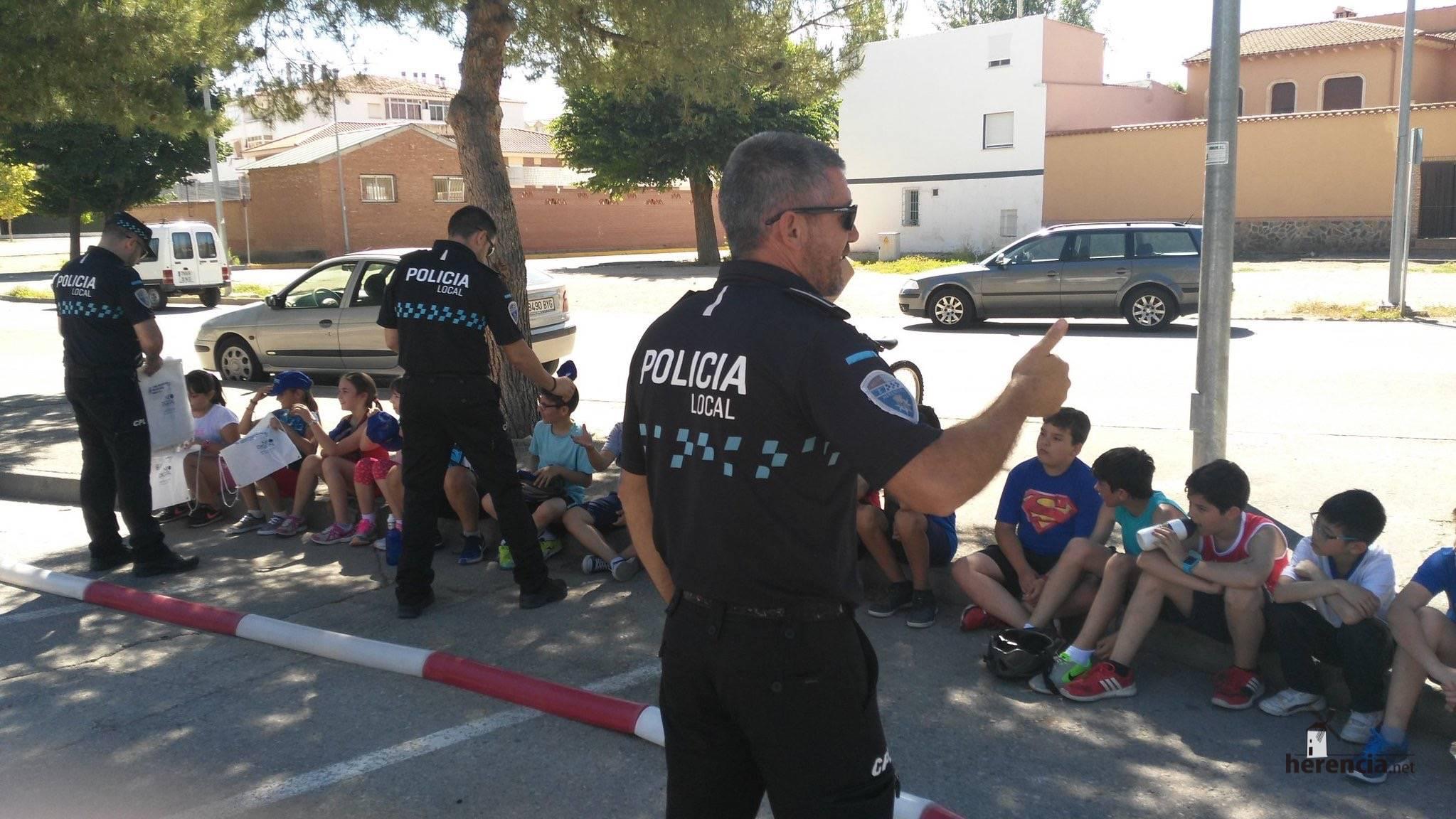 educacion vial colegios policia local herencia - 1