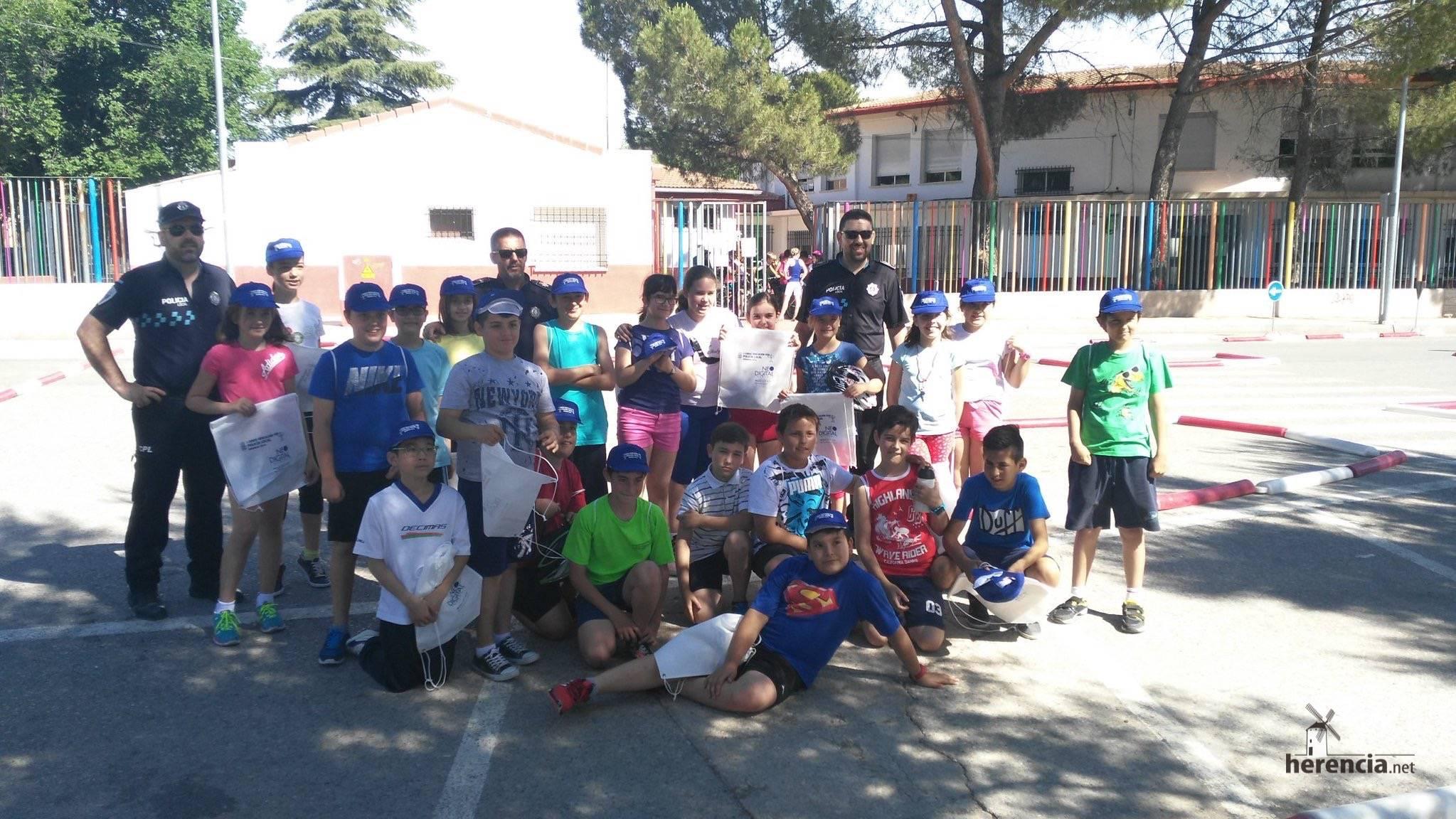 Educación Vial en los colegios por la Policía Local de Herencia