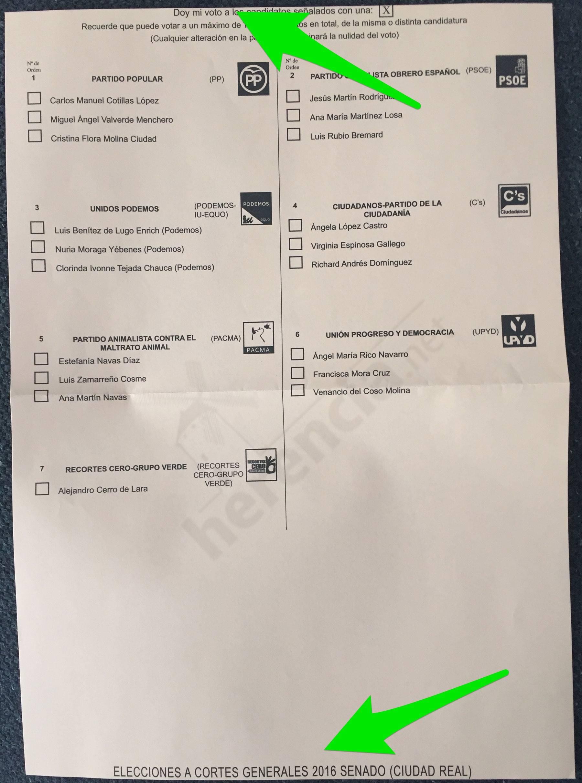 papeletas defectuosas al senado con marca del error - Papeletas defectuosas para voto por correo en la elecciones 26J