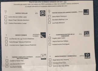 Supuesta papeleta defectuosa para elecciones generales 26J en España