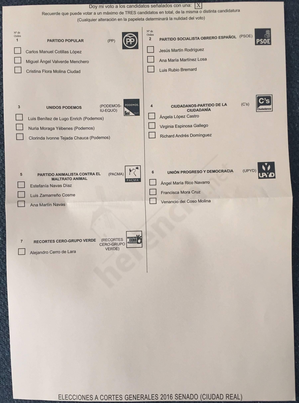 Papeletas defectuosas para voto por correo a elecciones 26j for Oficina del censo electoral madrid