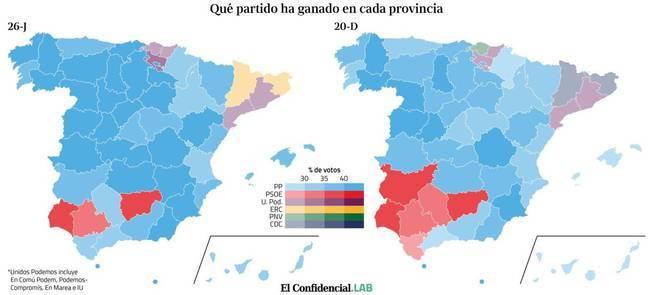 que partido ha ganado en cada provincia las elecciones generales 2016 - Resultados de las Elecciones Generales en España 2016