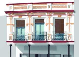 Estudio realizado sobre una de las fachadas históricas de la plaza de España de Herencia