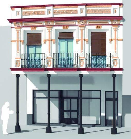 resized FACHADA PZ ESPAÑA - Realizado un estudio para la homogeneización de las fachadas de la plaza de España