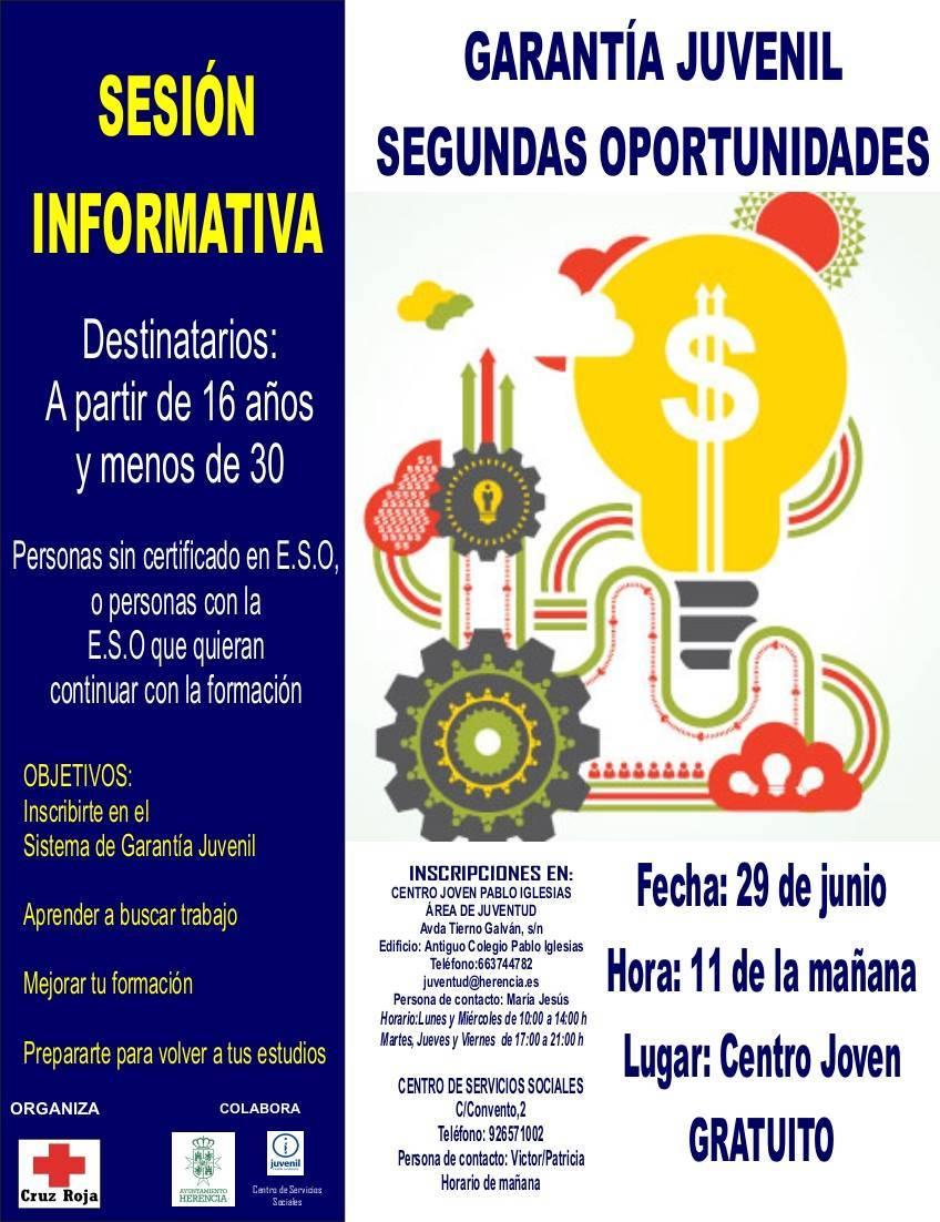 """segundas oportunidades en herencia - Sesión informativa de Garantía Juvenil, """"Segundas Oportunidades"""""""