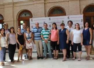 Diferentes autoridades asistentes a la firma del convenio de colaboración entre Junta, Sescam y Ayuntamiento de Herencia
