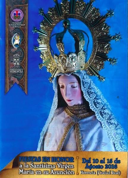 Cartel fiestas de la Labradora en Herencia - Las fiestas de la Asunción y el Carnaval de Verano marcan el puente de Agosto