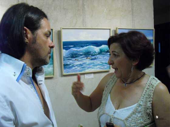 Exposicion de oleos de Inmaculada Garcia Vallejo y Jesus Mata 8 560x420 - Galería de fotos Exposición de Óleos de Inmaculada García Vallejo y Jesús Mata