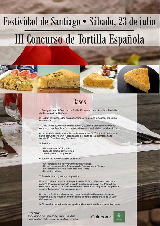 III concurso de tortillas espanola - III Concurso de Tortilla Española el 23 de julio
