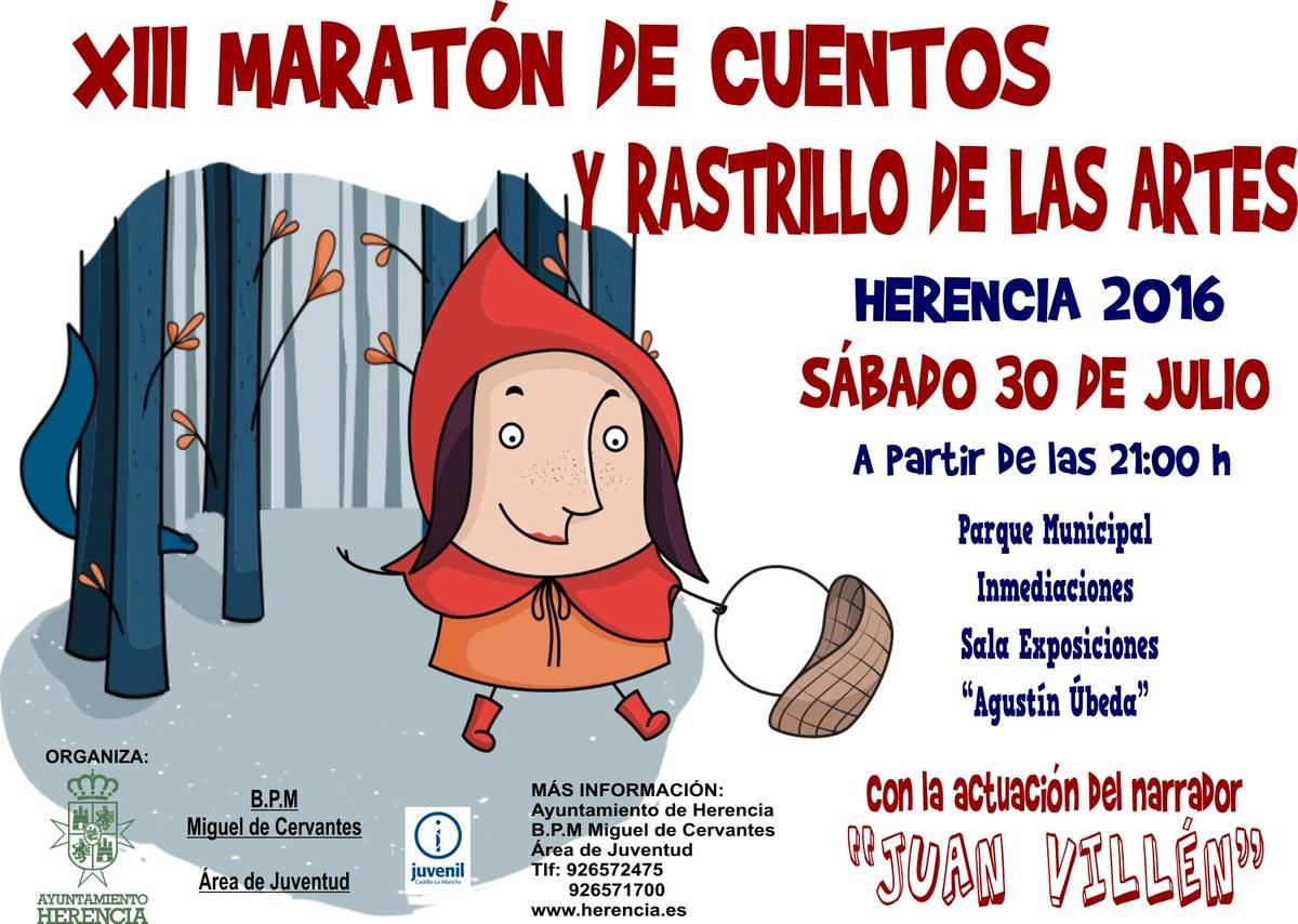 XIII maraton de cuentos y rastrillo de las artes 2016 - Inscríbete ahora en el XIII Maratón de Cuentos y Rastrillo de las Artes
