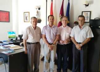 Alcalde de Herencia y la directiva regional de la Unión Democrática de Pensionistas se reunen.