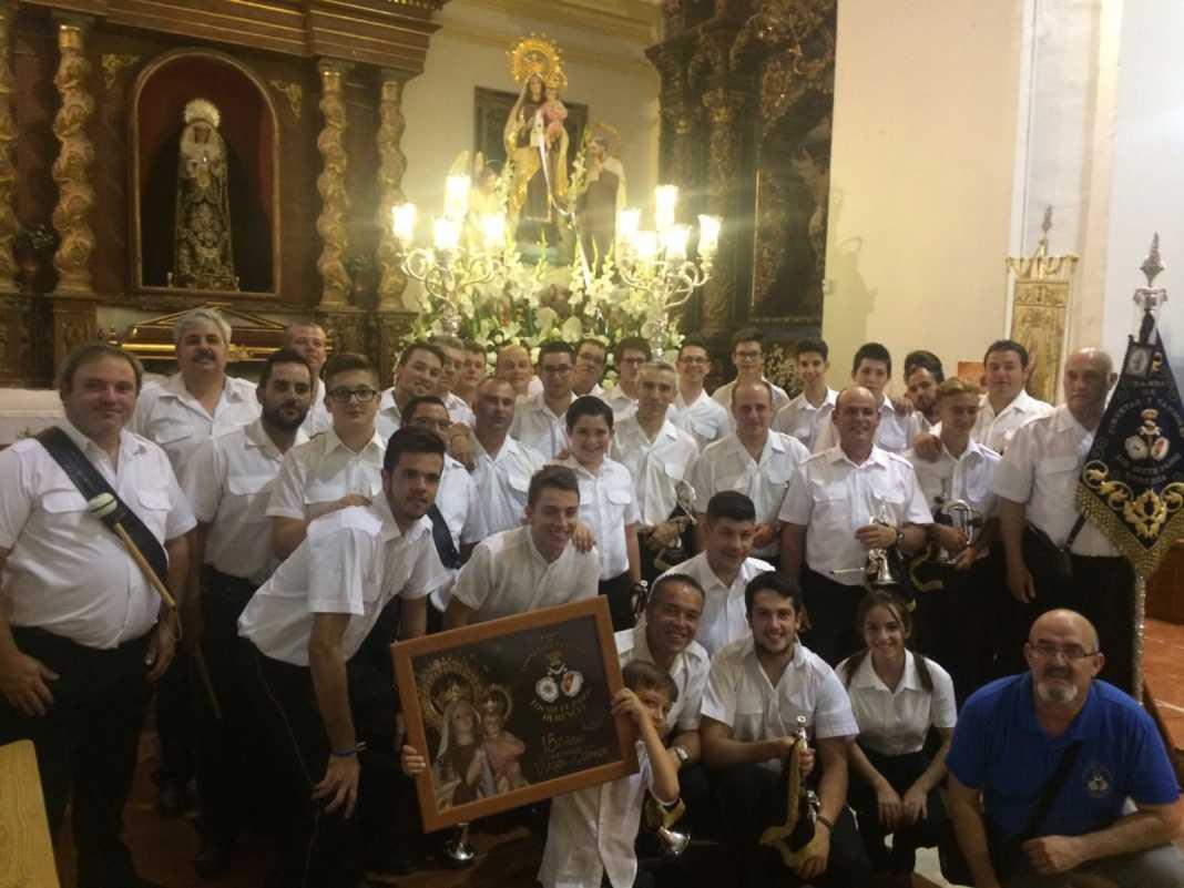 banda siete pasos y virgen del carmen 1068x801 - Banda Siete Pasos: 15 años acompañando a la Virgen del Carmen