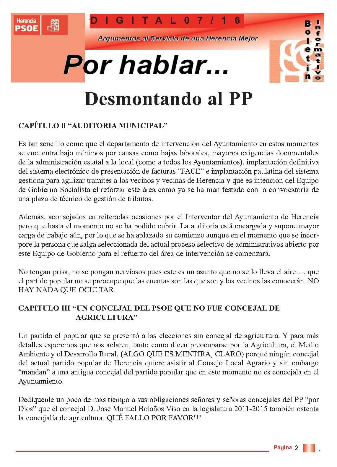 boletin informatico psoe herencia desmontando al pp 2 - PSOE responde al boletín del PP con otro boletín