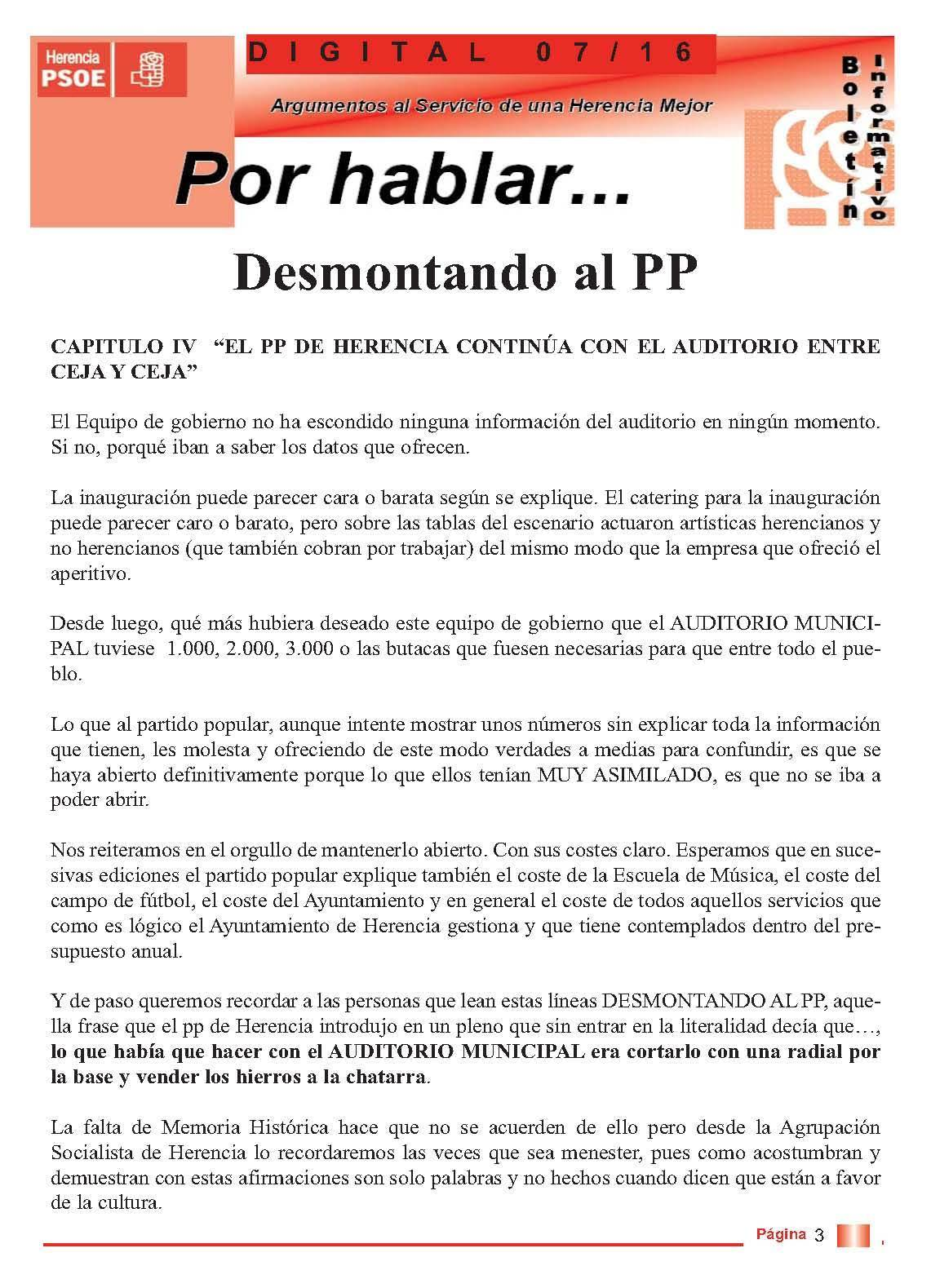 boletin informatico psoe herencia desmontando al pp 3 - PSOE responde al boletín del PP con otro boletín