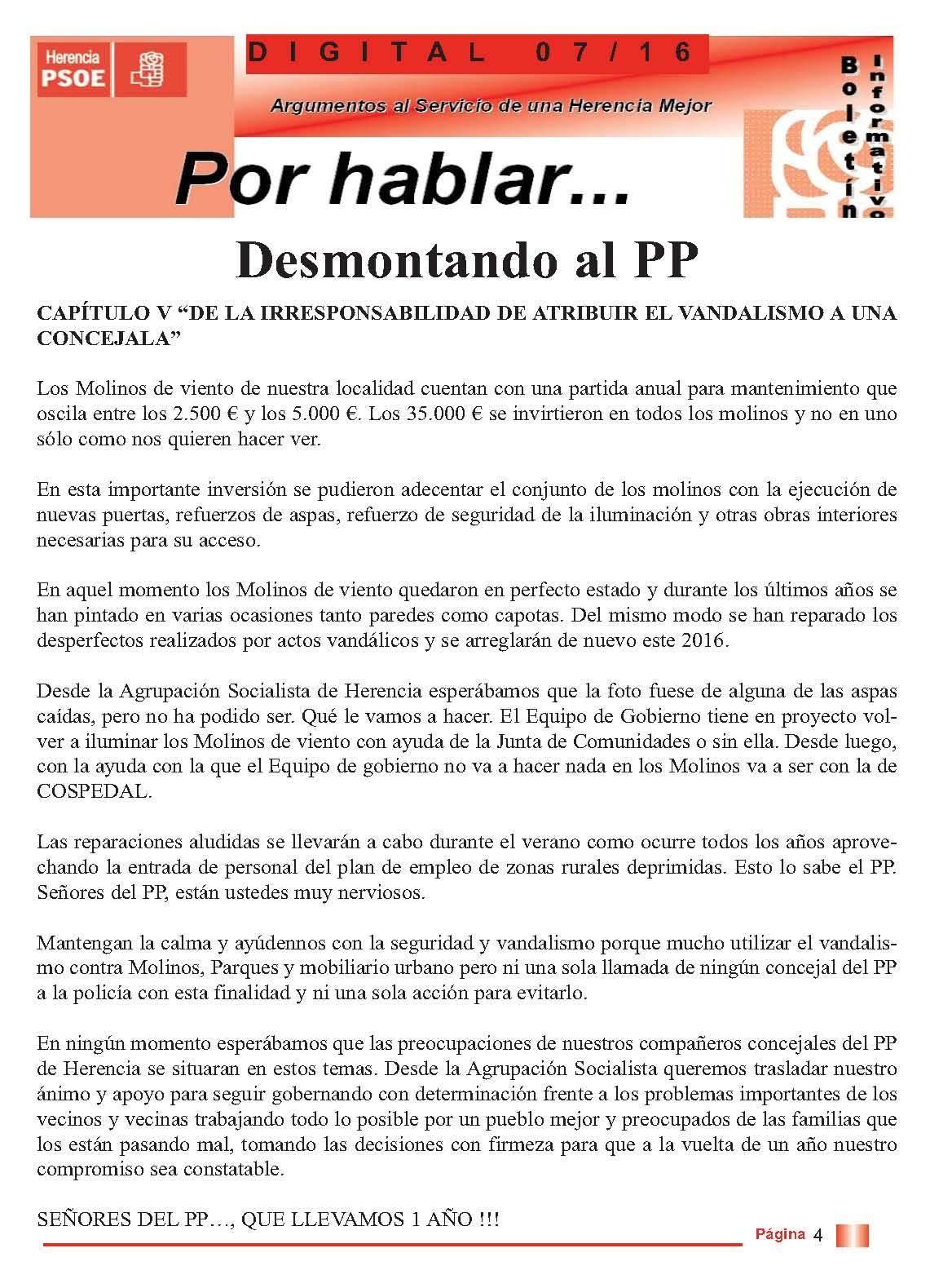 boletin informatico psoe herencia desmontando al pp 4 - PSOE responde al boletín del PP con otro boletín