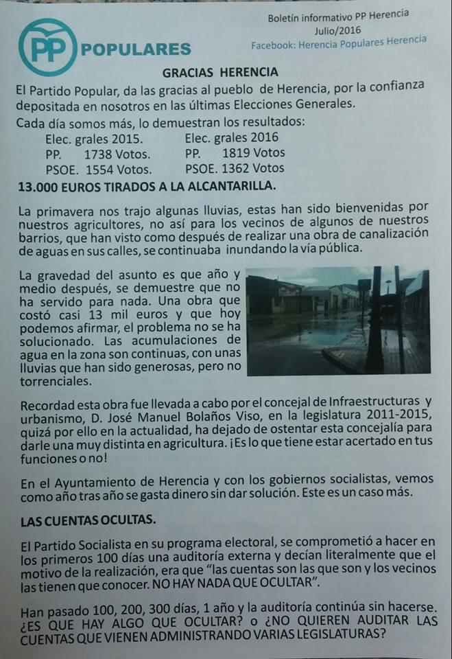 boletin partido popular herencia julio 2016 - pagina 1