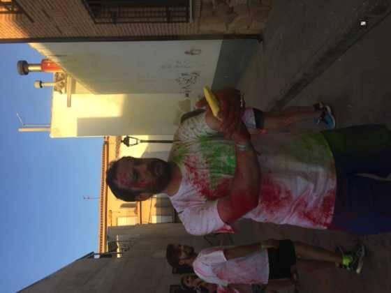 carrera herencia colours run con movil de 50 560x420 - La Marcha Herencia Colours mueve a más de 600 herencianos