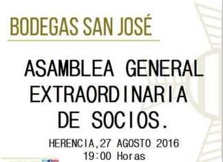 Asamblea general extraordinaria de socios de la cooperativa san jose de Herencia