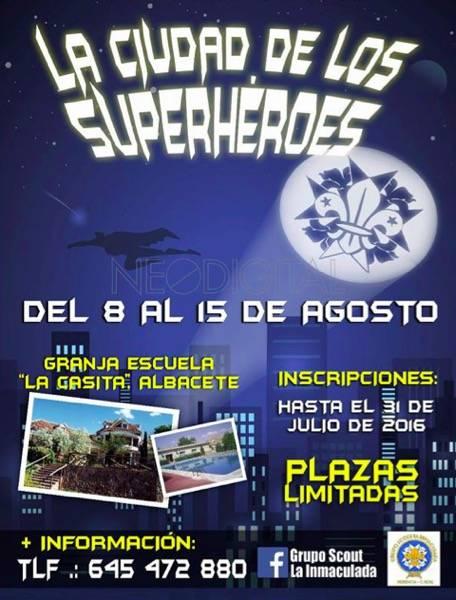 """Campamento scout la ciudad de los superhérores - III Campamento de verano del grupo scout """"La Inmaculada"""""""