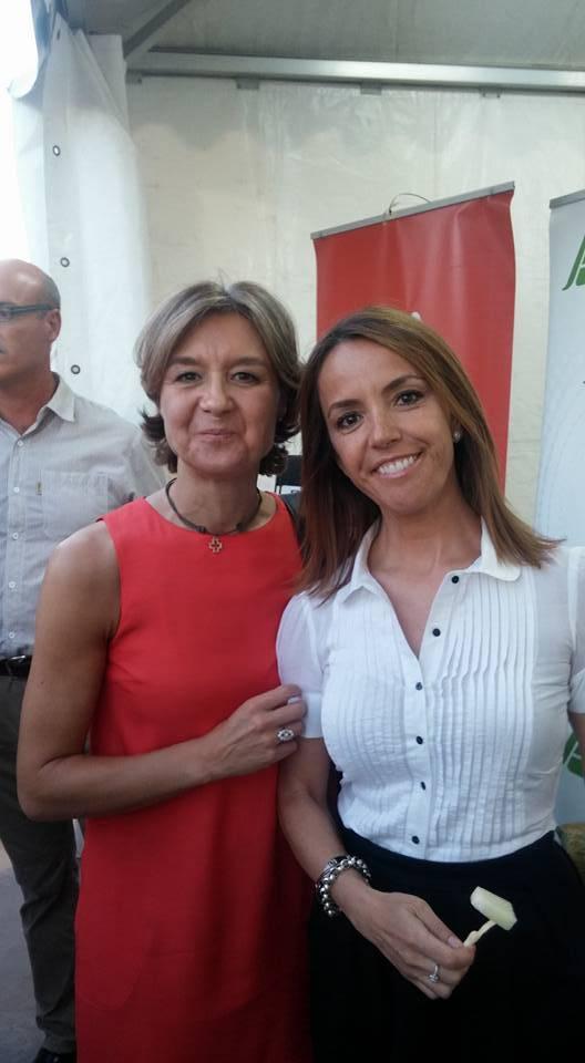Cristina rodriguez de tembleque con la ministra de agricultura - Herencia también estuvo en la Feria del Melón de Membrilla