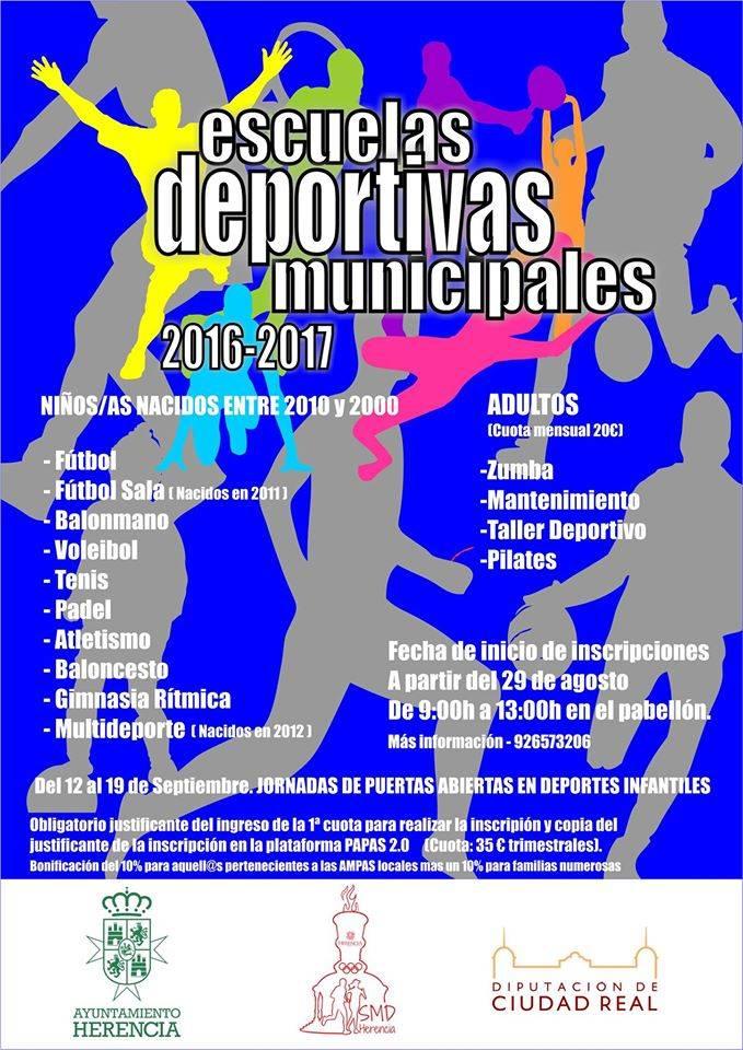 Escuelas deportivas de Herencia curso 2016-2017