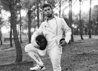 Mario Fernández Martin de Ruedas tirador de club esgrima dumas de Herencia (Ciudad Real)
