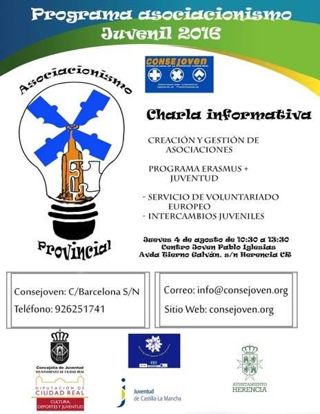 Sesión Informativa Asociacionismo juventud - Sesión informativa sobre asociacionismo y Erasmus + Juventud