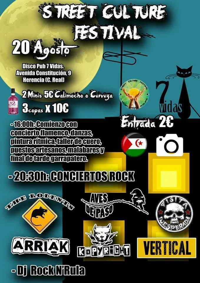 Street Culture Festival 2016 Herencia - Festival cultural multidisciplinar con conciertos en directo