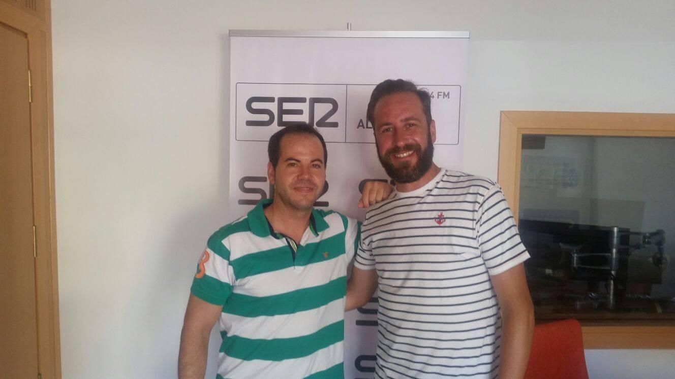 Alcalde de Herencia (Ciudad Real), Sergio Garcia-Navas y Eugenio Martín, miembro de Los Pelendengues