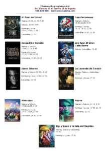 cartelera de cinemancha de la semana del 12 al 18 de agosto 211x300 - Cartelera Cinemancha del 12 al 18 de agosto