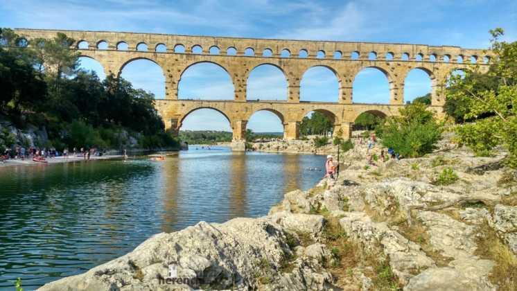 elias escribano perle en pont du gard Francia 4 746x420 - Etapa 19. Perlé en el Pont du Gard