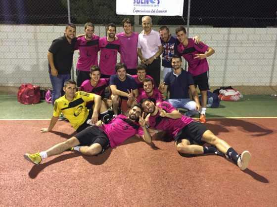 equipo sinfin de herencia en maraton futbol sala puerto lapice 560x420 - El SinFin ganó la Maratón de Fútbol Sala de Puerto Lápice 2016
