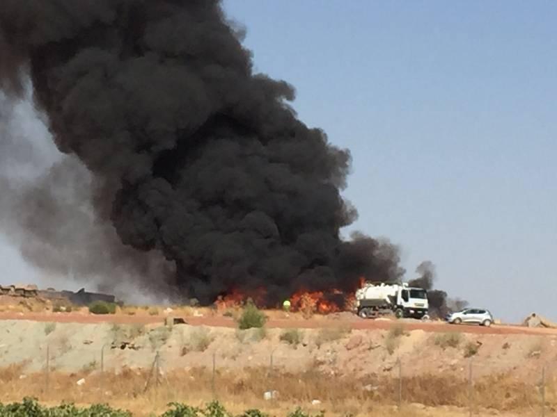 incendio en Comsermancha - Incendio en la planta de Comsermancha en Alcázar de san Juan