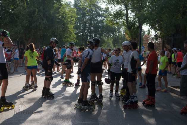 Fotografías de previos, salida patines y carrera en Carrera Popular Herencia 15