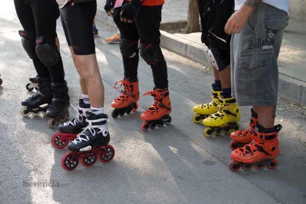 Fotografías de previos, salida patines y carrera en Carrera Popular Herencia 16