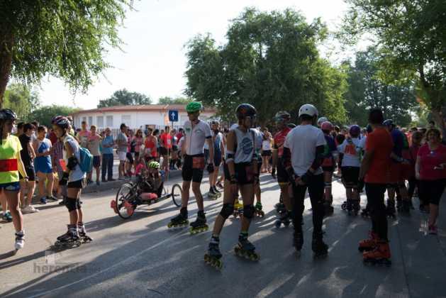 Fotografías de previos, salida patines y carrera en Carrera Popular Herencia 21