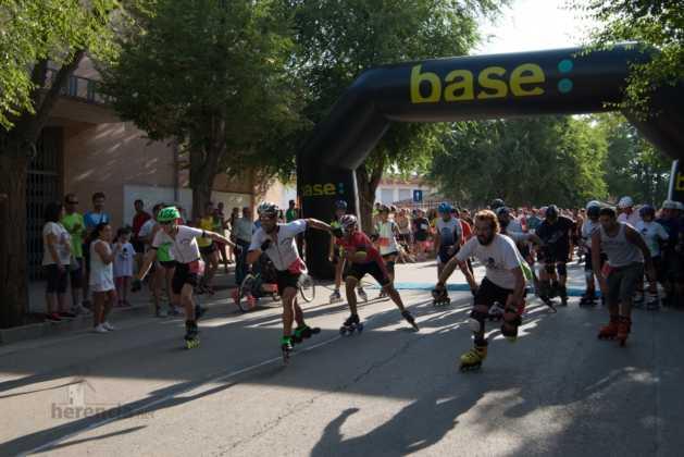 Fotografías de previos, salida patines y carrera en Carrera Popular Herencia 40