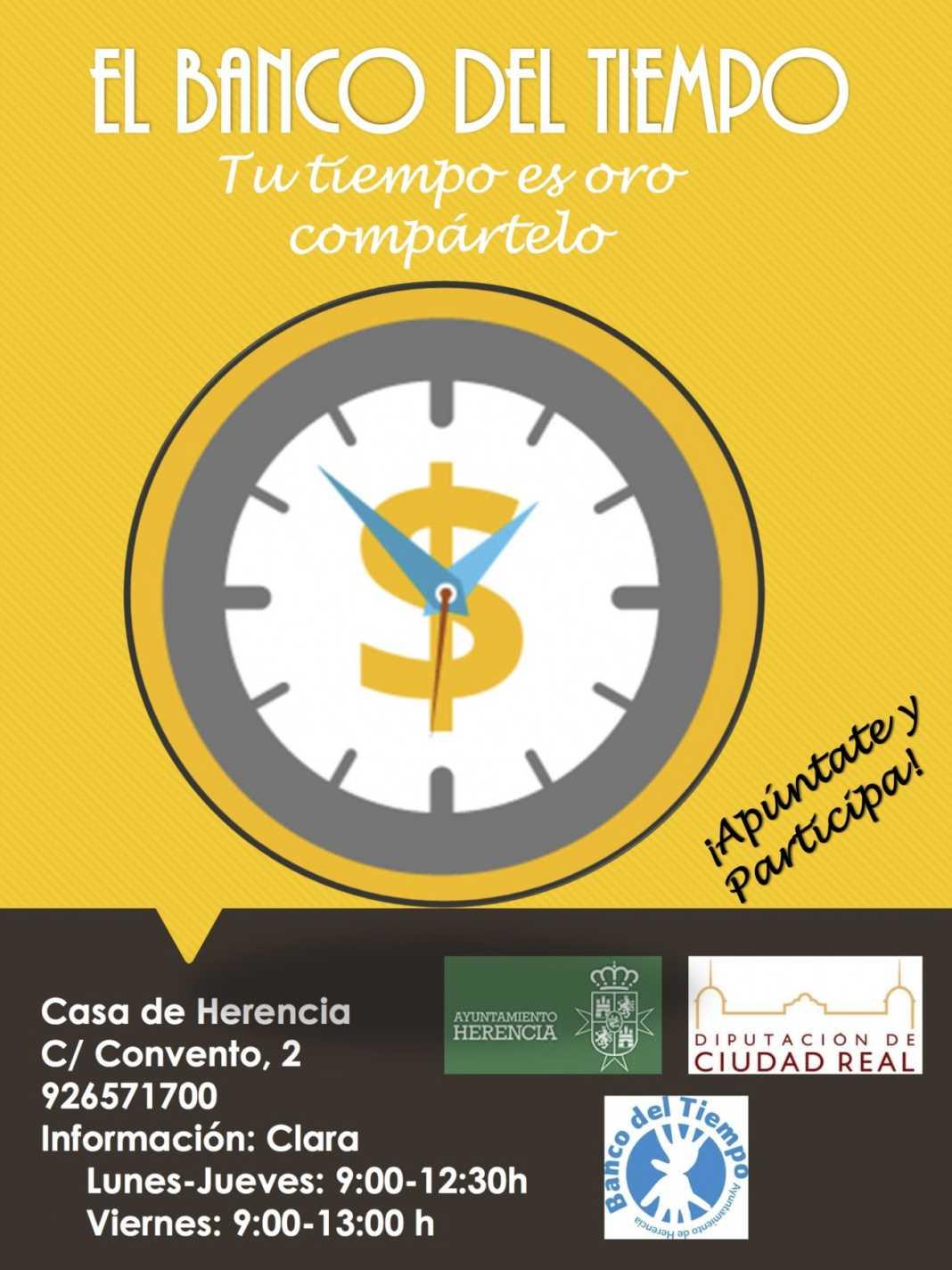Banco del tiempo Herencia 1068x1424 - El Banco del Tiempo vuelve a abrir en Herencia