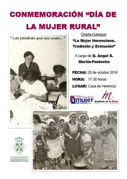Cartel del día de la mujer rural en Herencia