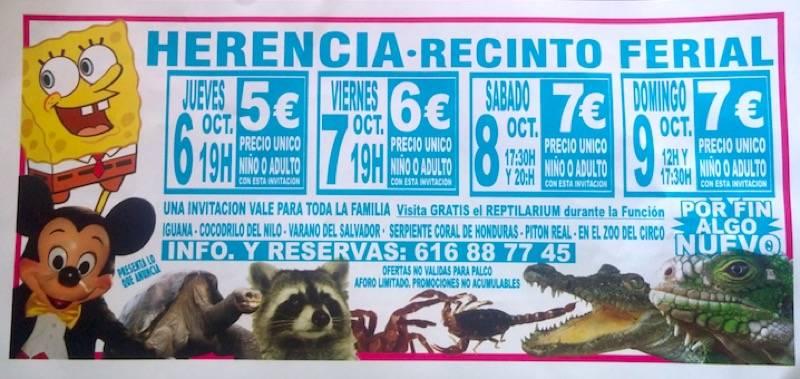 Circo acuatico Amazonas en el recinto ferial de Herencia - El circo acuático Amazonas permanecerá en Herencia varios días