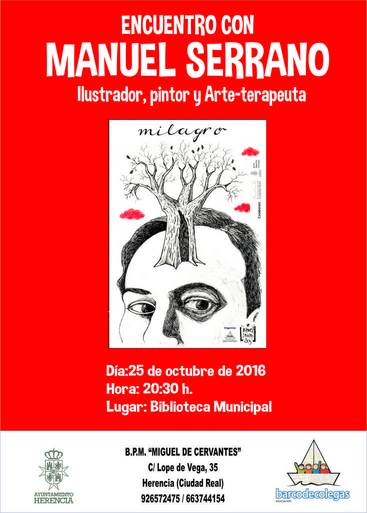Encuentro con Manuel Serrano ilustrador de Palabras a la Calle. 1
