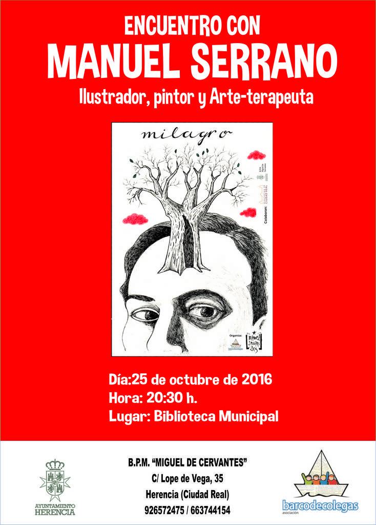 Enc uentro Palabras a la calle. 1 - Encuentro con Manuel Serrano ilustrador de Palabras a la Calle.
