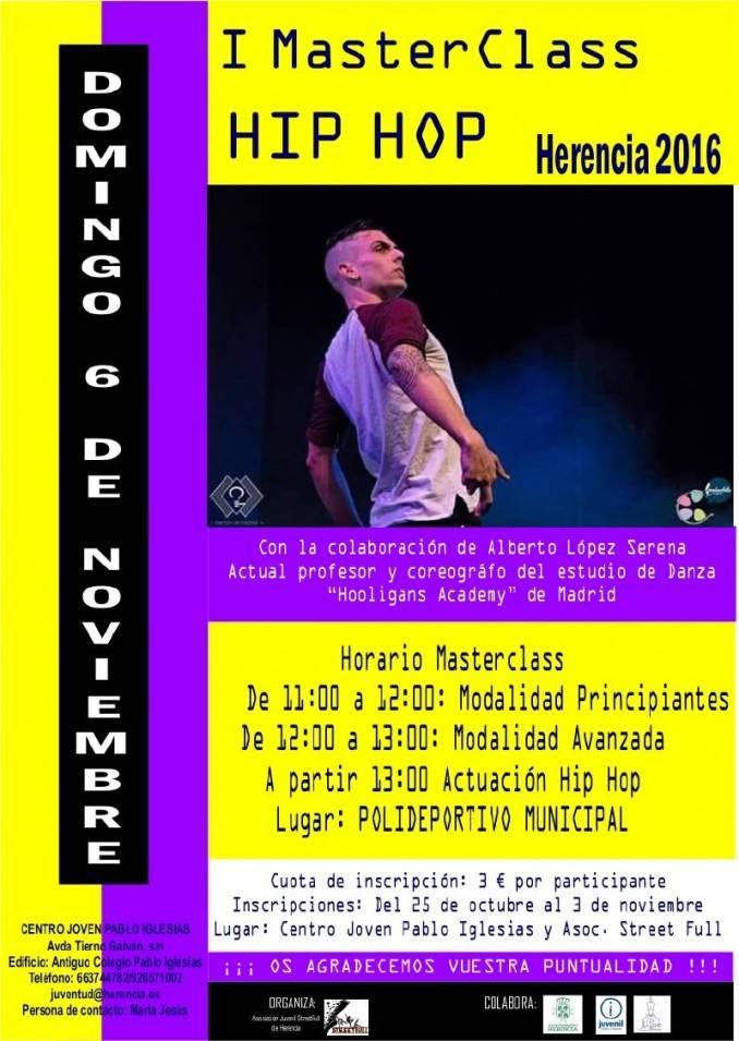 MasterClass de hip hop en Herencia - Exhibición de hip hop organizada por la asociación Street Full