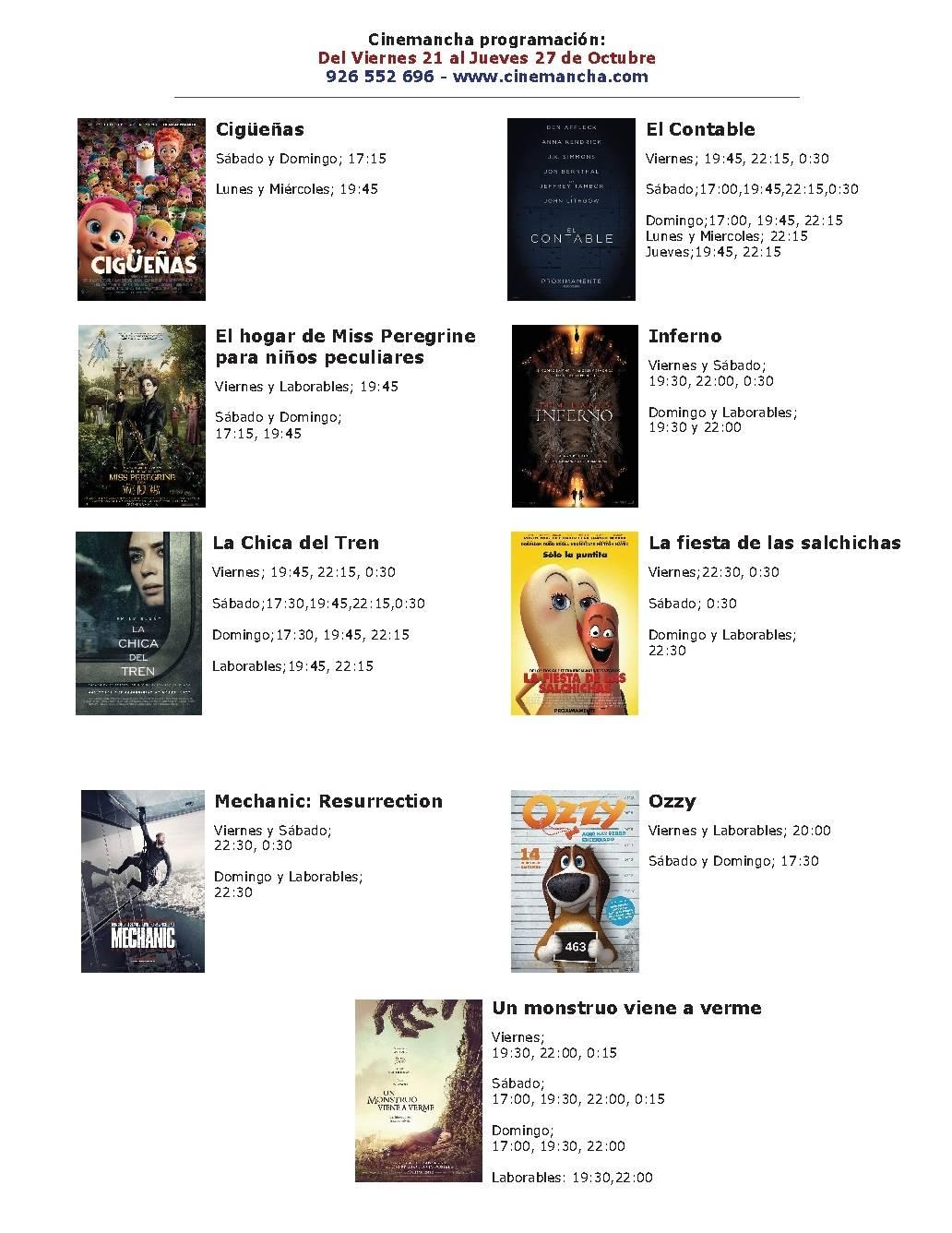 Programación de Cinemancha del 21 al 27 de octubre 1