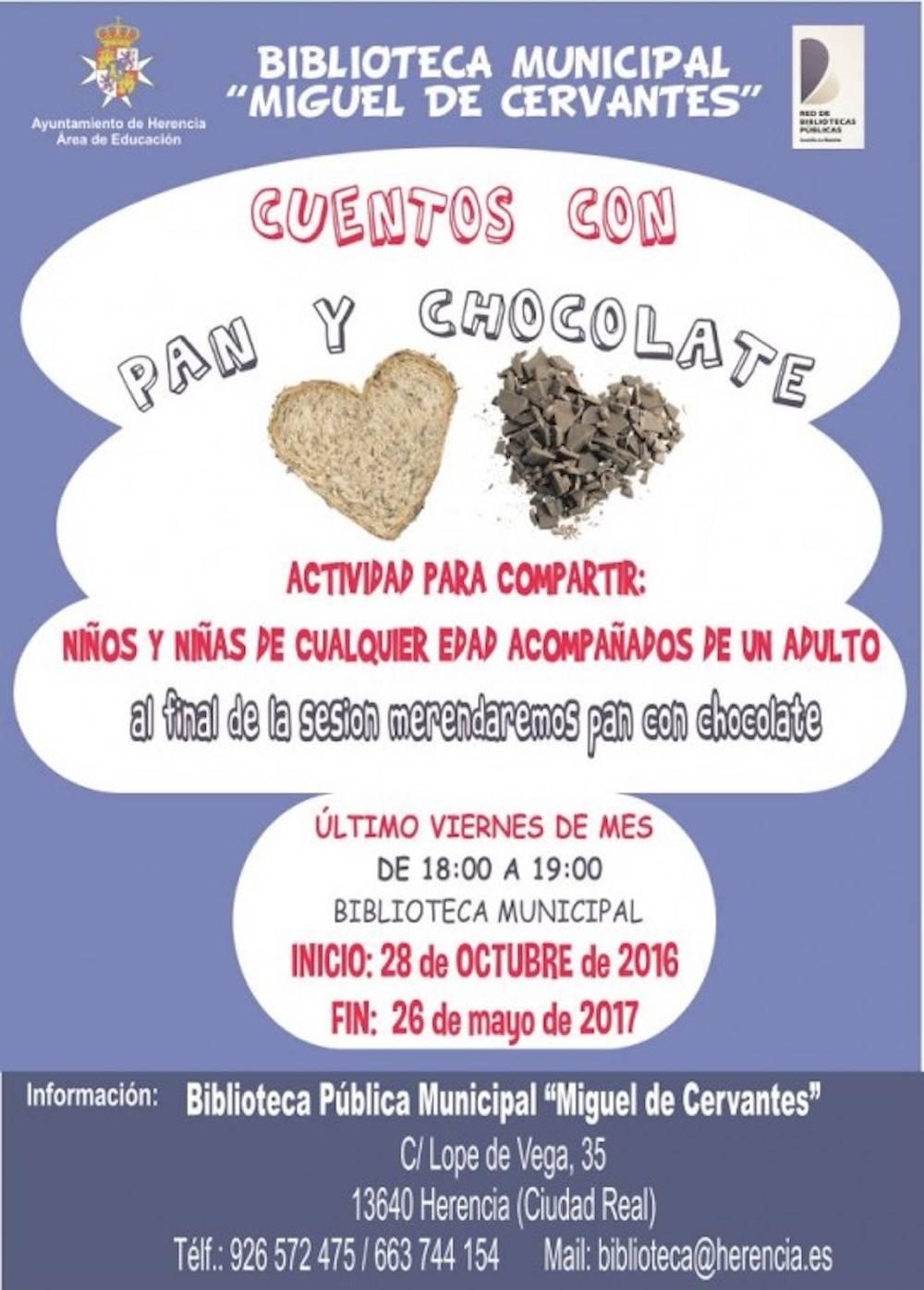 """cuento con pan y chocolate 2016 2017 en biblioteca herencia - La biblioteca comienza la temporada de """"Cuentos con Pan y Chocolate"""""""