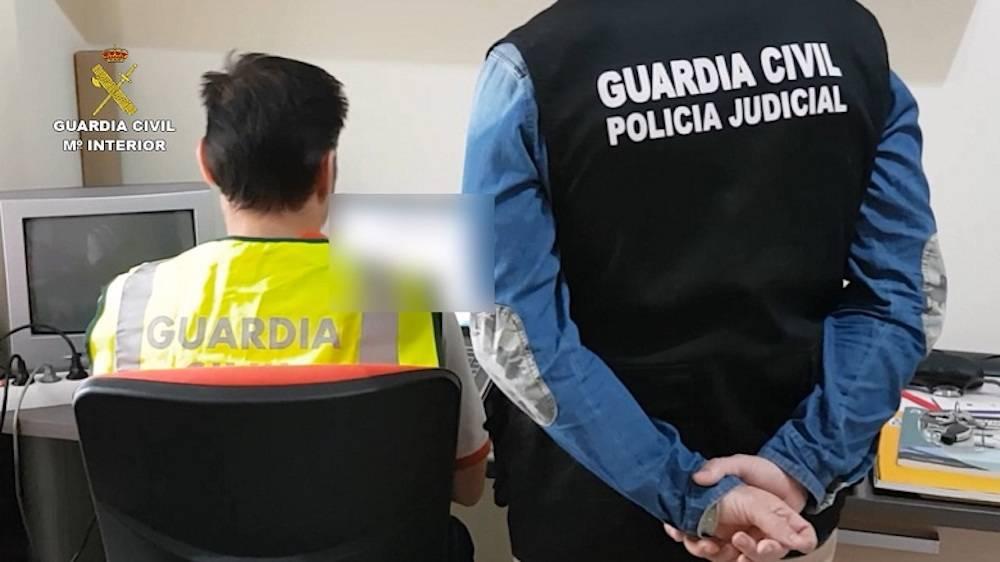 detenidos operacion chispa2 y Clonado guardia civil - 6 detenidos en Ciudad Real por distribuir pornografía infantil
