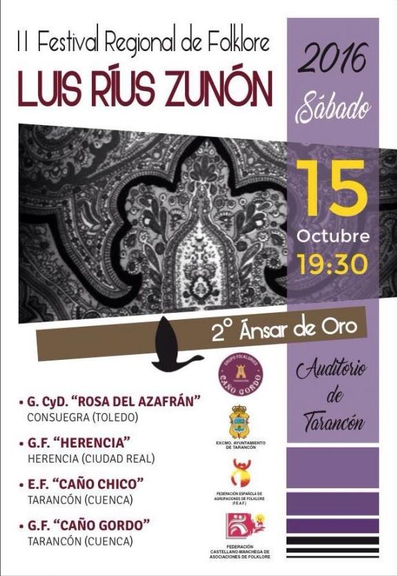"""folleto del festival regional de folclore luis rius zunon - Herencia presente en II Festival Folklórico Regional """"Luis Rius"""""""